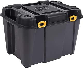 Ezy Storage 31732 Bunker 160 Liter Heavy Duty Garage Storage Container Tub Bin Tote, Black