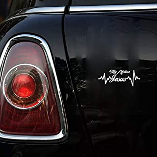 Makirt 17.87.1cm x 7.1cm Jesus is My Lifeline car Motorcycle Sticker Decals for car Laptop Window Sticker
