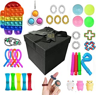 AioTio 30PCS Sensory Fidget Toys Set Fidget Toy Pack,Simple Dimple Fidgets Stress Relief Toy,as a Gift for Children and Fa...