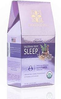 Secrets Of Tea Valerian Sleep Tea - Natural USDA Organic Caffeine-Free Tea for Sleep Aid - Herbal Tea for Sleeping and Rel...