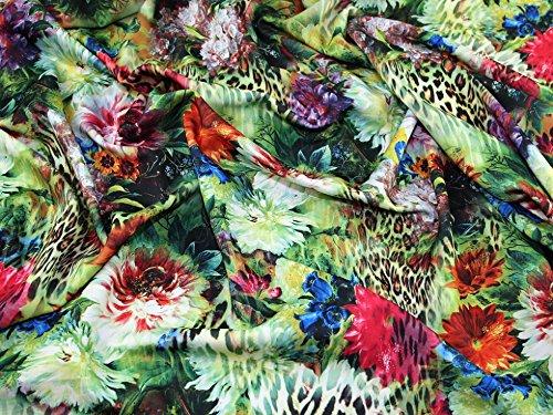 Minerva Crafts Stoff, mit tropischem Blumenmuster, mehrfarbig – Meterware