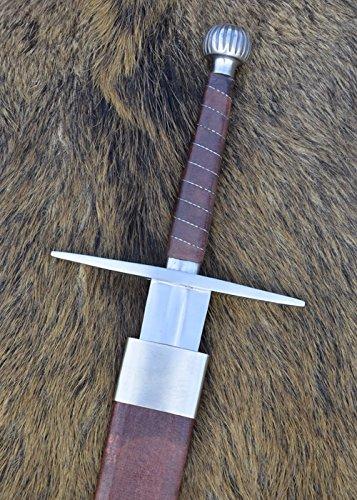 Battle-Merchant Langes Schwert mit Scheide, reguläre Ausführung Echtes Metallschwert Erwachsene