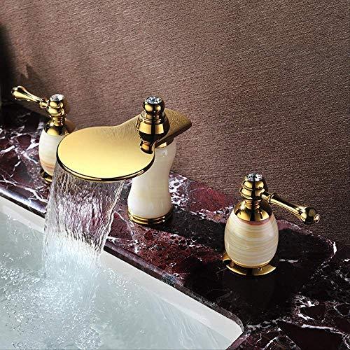 Baño completo de tirador de cobre Recubrimiento 2113,Grifo de Cocina Extraíble 397° Giratorio Grifo de Fregadero Grifería Cocina Monomando Fregadero Agua Fría y Caliente