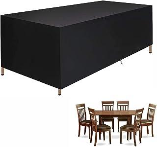 IE Garden Furniture Covers, 210D Rectangular Patio Table Cover,Outdoor Patio Furniture,Patio Furniture Cover,Tear-Resistan...