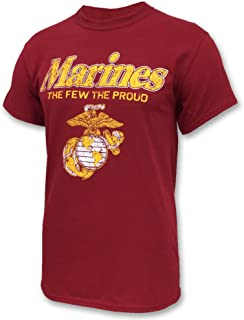 Armed Forces Gear Marines The Few The Proud Faded T-Shirt, Large, red