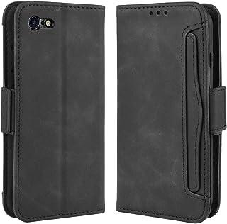 iPhone SE2 ケース iPhone SE ケース 第2世代 iPhone SE ケース 2020 iPhone8 ケース 手帳型 iPhone7 カバー 財布型 マグネット式 横置き機能 カード収納 高級PUレザー アイフォン SE2 / 7 / 8 ブラック Ayakumo sy127