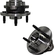 Detroit Axle - NO ABS Pair (2) Front Driver and Passenger Wheel Hub and Bearing Assembly Set fits Non-ABS 4-Lug Models for - Cobalt, G5, Pursuit, Ion