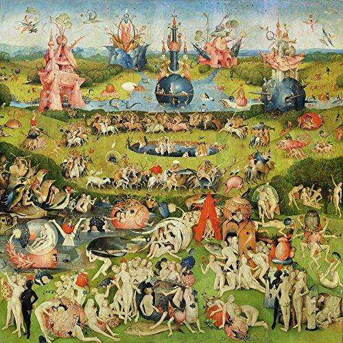 Feeling at home Impresion-en-Papel-Il-giardino-Delle-delizie-II-Bosch,-Hieronymus-Floral-65_X_65_cm