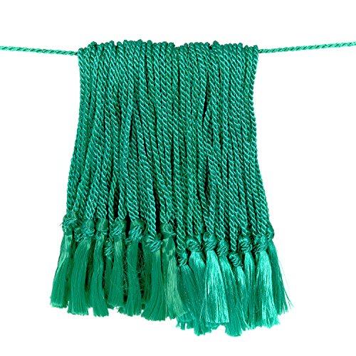Tassel Depot 2-Inch Floss Bookmark Tassel with 4-Inch Cord Loop, 100-Piece, Dark Green