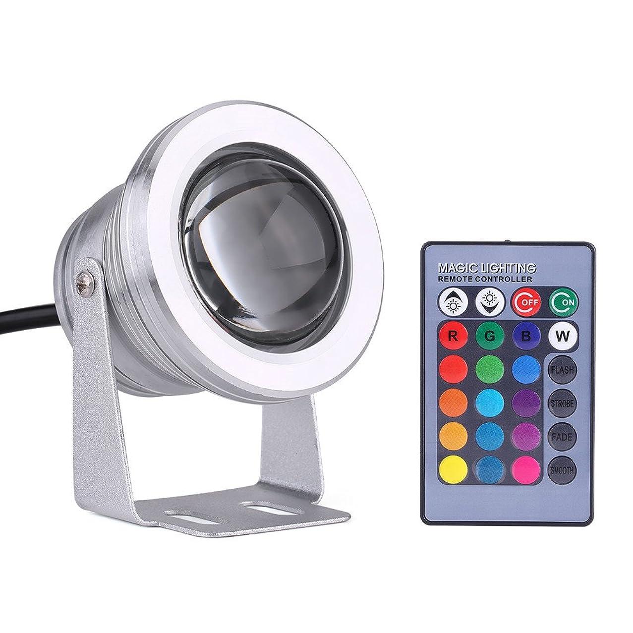 寄稿者抜本的なプロペラ6色 LED潜水ライト LED水中スポットライト ip68防水LED 景観ランプアウトドア 池噴水庭 庭明かり 小型 アルミニウム 10w 12v RGB(银白壳)