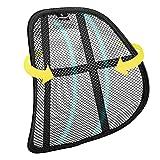 SMAMS Respaldo Lumbar para Silla de Oficina o Coche con Malla Super Tensa, Corrige la Postura y Alivia el Dolor Lumbar