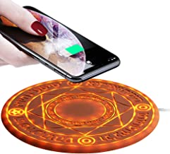 Magic Array Wireless Charger Pad,10w Qi Fast Ultra Slim Wireless Charging Pad for iPhone 11/11 Pro/11 Pro Max/8/8 Plus/X/XR/Xs Max/Samsung Galaxy S10/S10+/S9/S8/S7,All Qi-Enabled Phones(No AC Adapter)