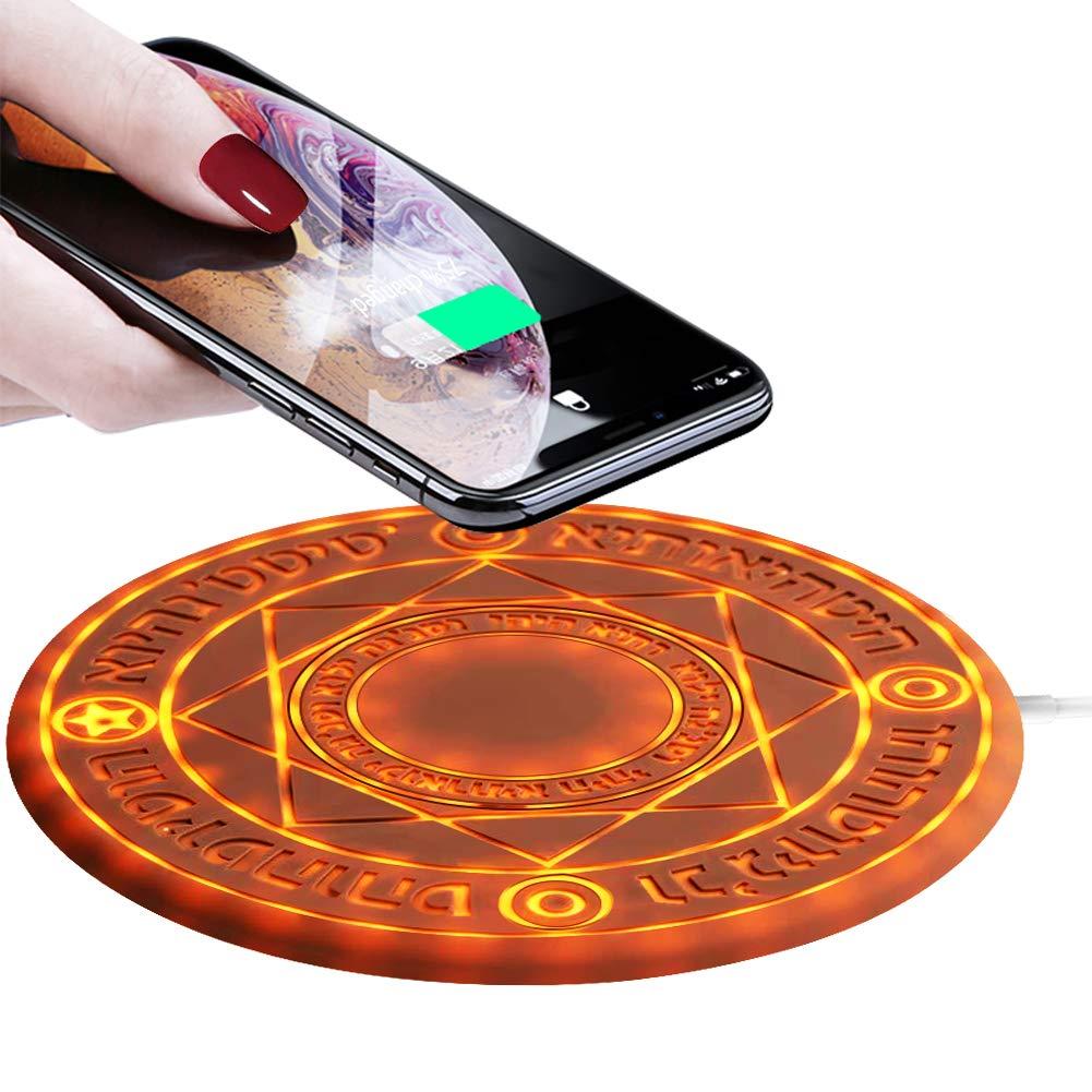 Magic Array Wireless Charger Pad,10w Qi Fast Ultra Slim Wireless Charging Pad for iPhone 1111 Pro11 Pro Max88 PlusXXRXs MaxSamsung Galaxy