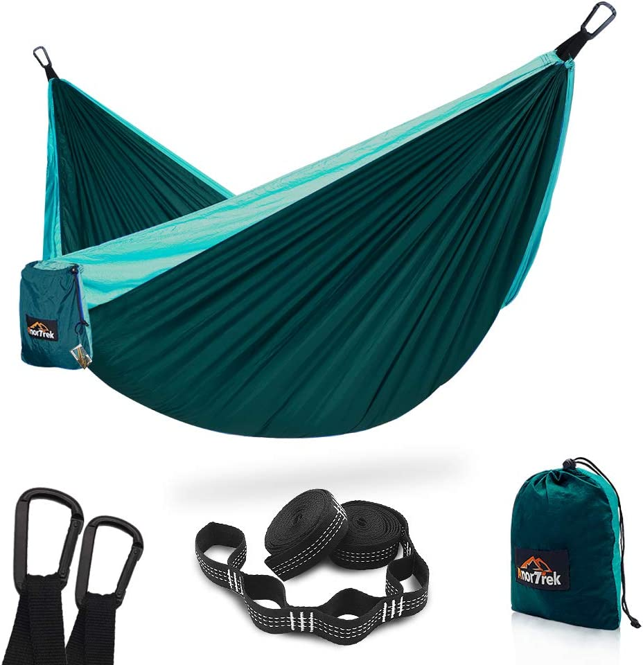 Super Lightweight Portable Parachute Hammock with Two Tree Straps Single /& Double Nylon Hammock for Camping Backpacking Travel Hiking AnorTrek Camping Hammock Each 5+1 Loops