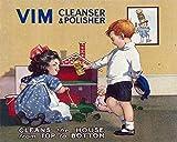 Vim Cleanser & Polisher Vintage Retro Decor Metal Tin Sign 8x12 Inch
