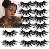 8D 25mm Mink Lashes Faux Mink 7Pair Dramatic False Eyelash Mink Eyelashes Fluffy Volume Eyelashes Strip Thick Long Mink Lashes Extension Bold Makeup Tools Women Gifts (25mm Mink Lashes)