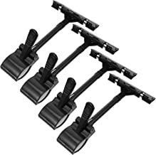 POPETPOP 4pcs Merchandise Sign Display Clip Holder Price Tag Label Clip on Clamp Stand Supermarket Message Board Clip