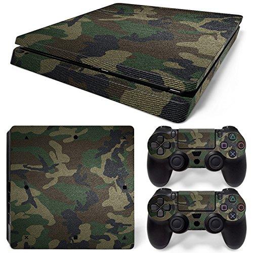 Sony PS4 Playstation 4 Slim Skin Design Foils Aufkleber Schutzfolie Set - Camouflage 3 Motiv