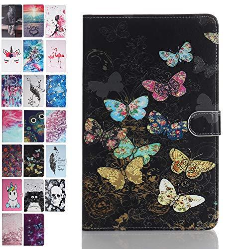 ANCASE Fundas duras para Tablets Apple iPad Mini 5 4 3 2 1 con Tapa Libro PU Case Cover Completa Protectora Carcasa de Cuero, Mariposa de Color