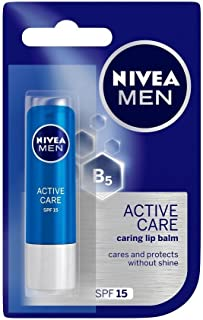 NIVEA MEN Lip Care, Active Care Lip Balm, SPF 15, 4.8g