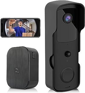 PHYSEN Wireless Security Camera Doorbell WiFi Weatherproof Outdoor Camera Door Bell for Home Office, Door Camera with Chim...