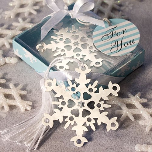 Snowflake Bookmark Wedding Favors: Perfect Winter Favors, 36