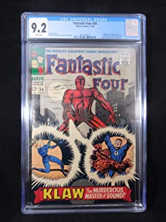 Fantastic Four #56 CGC 9.2 White Pages Inhumans and Klaw App