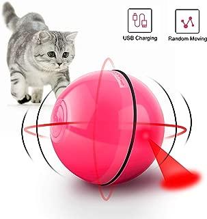 CENXINY Cat Balls Smart Interactive Cat Ball Toy 360 Degree Self Rotating Light Up Pet Toy USB Charging