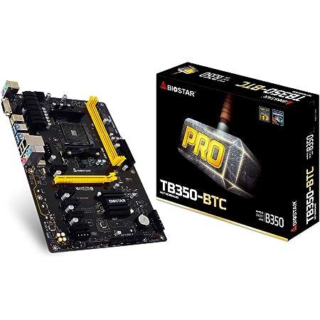 BIOSTAR AMD B350チップセット搭載 Ryzen対応 ATXマザーボード TB350-BTC