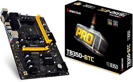 Biostar マザーボード TB350-BTC AMD Pixel AM4 B350 最大32GB DDR4 DVI-D PCI Express SATA ATX 小売