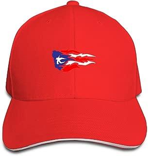 Adult Puerto Rico Flag Cotton Lightweight Adjustable Peaked Baseball Cap Sandwich Hat Men Women