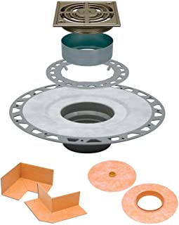 Schluter Kerdi Drain Kit with 4 in. Brushed Nickel Anodized Aluminum Grate