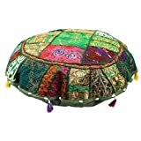 Maniona Crafts - Funda de cojín de suelo decorativo de 81,28 cm, diseño indio,...