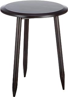 Marca Amazon - Movian Đerdap - Mesita auxiliar de abedul macizo 46 x 46 x 585 cm negro