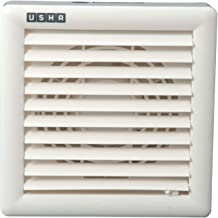 Usha Crisp Air Premia BV 150mm Sweep Size, 8 Inch Duct Size Exhaust Fan (White)