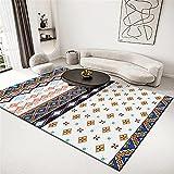 alfombras Bebe Alfombra Amarilla, Lavado de Agua no se desvanece la Alfombra de Polvo Simple alfombras Pelo Corto Salon -Amarillo_180x200cm