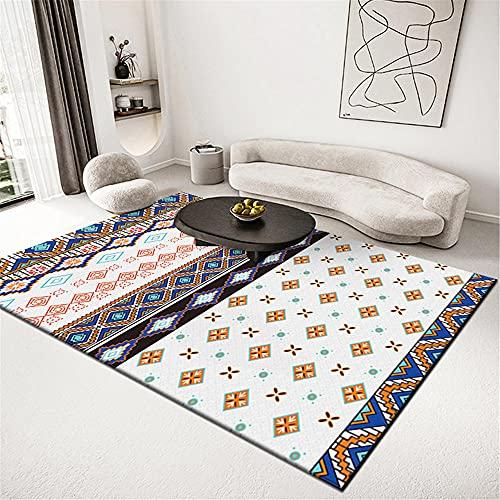 alfombras acusticas Alfombra Amarilla, Lavado de Agua no se desvanece la Alfombra de Polvo Simple alfombras Lavables Infantiles -Amarillo_200x300cm