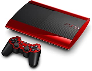 Red Chrome Mirror Vinyl Decal Faceplate Mod Skin Kit for Sony PlayStation 3 Super Slim Console by System Skins