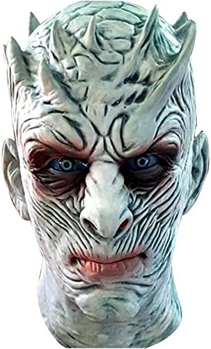 XINKONG Masken Halloween Horror Maske Latex Grimasse Right Game Night King Mask Kopfbedeckung