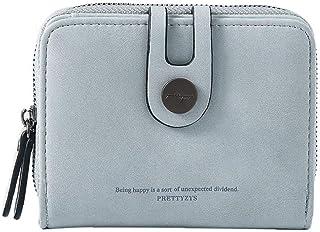 1PC multifunzionale Portafoglio in pelle PU borsa Mini breve raccoglitore portatile Holder Cards Lady Bag Coin brillante r...