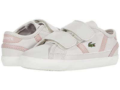 Lacoste Kids Sideline 0120 1 CUI (Toddler/Little Kid) (Off-White/Light Pink) Kid