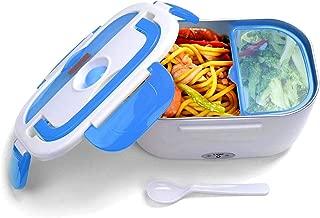 JOYOOO Caja de almuerzo eléctrica desmontable, caja de almuerzo calentada,potencia antifugas extraíble y revestimiento inoxidable Bandeja , fácil de limpiar 40 vatios