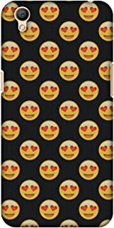 AMZER Slim Fit Handcrafted Designer Printed Hard Shell Case Back Cover for Oppo A37 - Emoji Love