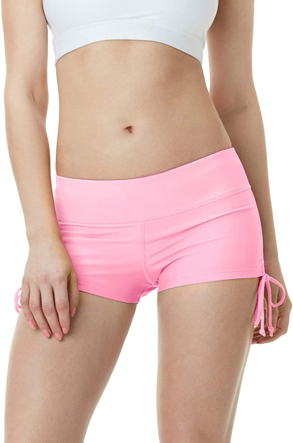 TSLA Women's Swim Shorts, Quick Dry Water Beach Board Short, Tankini Bathing Athletic Swimsuit Bottoms