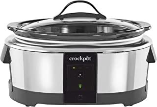 Crock-pot 2139005 6 Quart Slow Cooker Compatible with Alexa | Programmable Stainless Steel