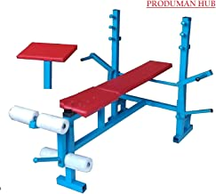 Produman hub 8 in 1 Gym and Preacher Exercise Weight Lifting Imported Home Gym Foldable Multipurpose Fitness Bench