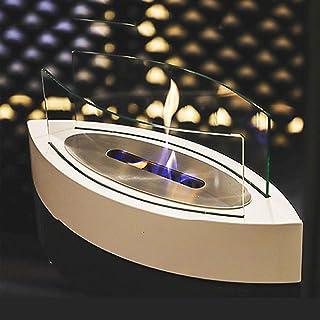 BKWJ Cheminée de Table au Bio éthanol, décoration de Foyer extérieur intérieur de Luxe Moderne, Bol à feu de Chauffage à C...