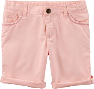 6 Youth Yellow Carters Little Girls Cotton Roll-Cuff Shorts