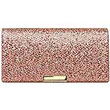 Caspar TA342 Bolso de Mano Fiesta para Mujer Clutch Elegante Brillo, Talla:Talla Única, Color:rosa