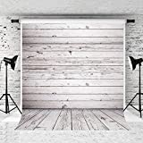 WOLADA Gray White Wood Backdrop Vinyl Vintage Wooden Floor Photo Backdrops Wood Wall Photography Background Worn Wooden Boards Background Photoshoot Props 10924 6x9